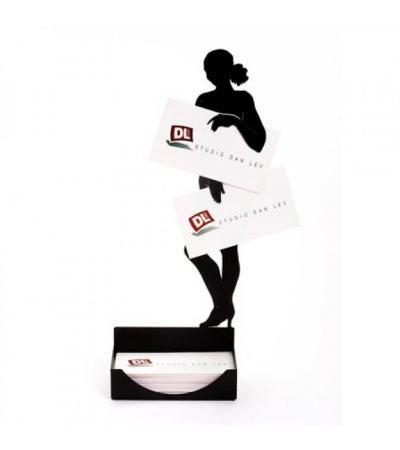Artori Female Nude Steel Sculpture Business Card Holder, Office Accessories