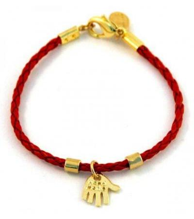 Braided Leather Hamsa Bracelet