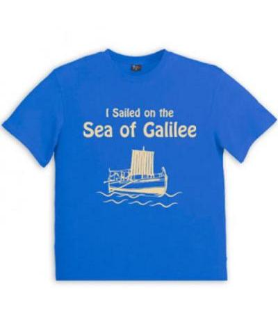 Christian T Shirt I Sailed on the Sea of Galilee
