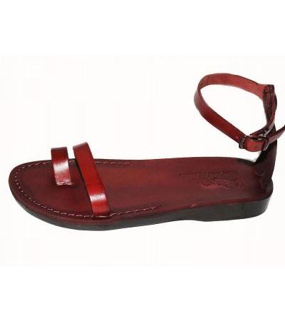 Classic Toe and Ankle Thin Strap Handmade Leather Sandals - Maya