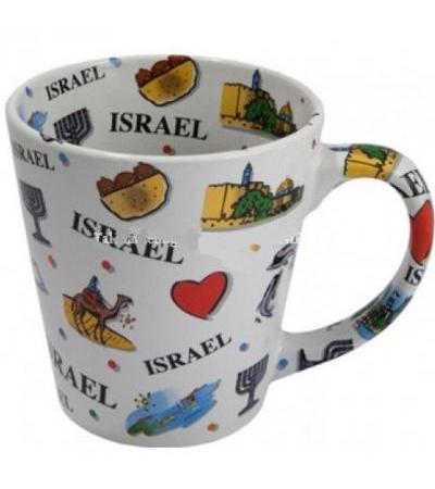 Conical Mug with Israel Expression Inside And Out