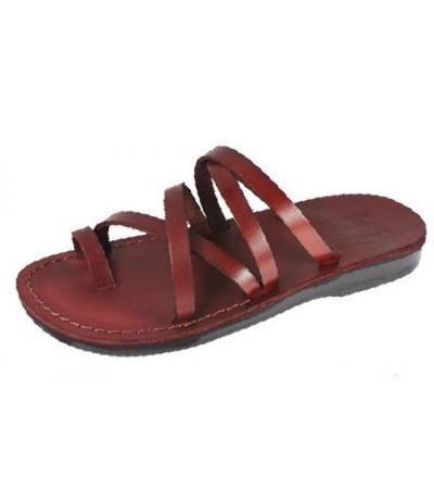 Elaborate Stylish Double X-Strap Handmade Leather Sandals - Tamar