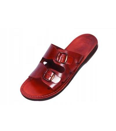 Genuine Handmade Leather and Buckled Sandals - Adar
