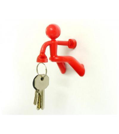 KeyPete Magnetic Key Holder, Red Only, Peleg Designs,