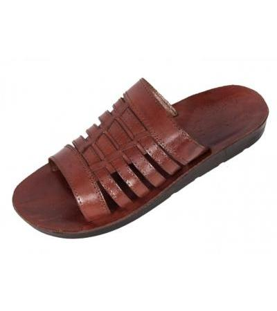 Open-front Fisherman Style Handmade Leather Biblical Slip-on Sandals