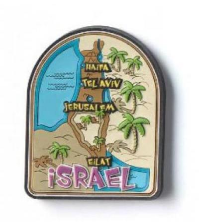 Souvenirs from Israel, Israel Map Fridge Magnet