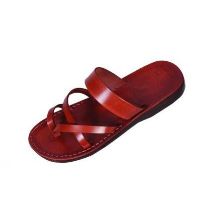 Thin-Banded Slip-on Handmade Leather Biblical Sandals - Ruth