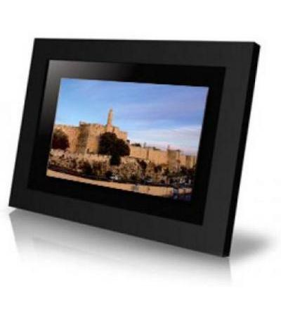 Window on Jerusalem black digital photo frame, high resolution LCD