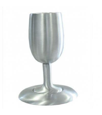Yair Emanuel Silver Colored Aluminum Kiddush Cup and Plate