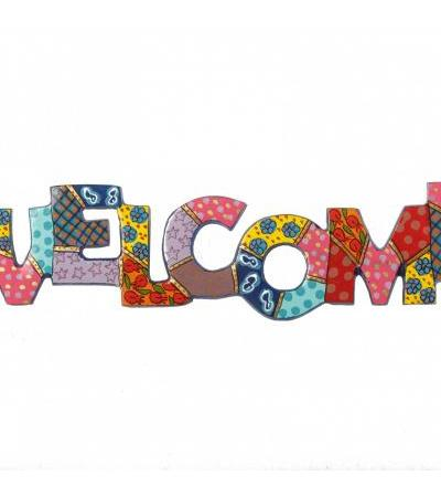 Yair Emanuel Welcome Metal Wall Hanging