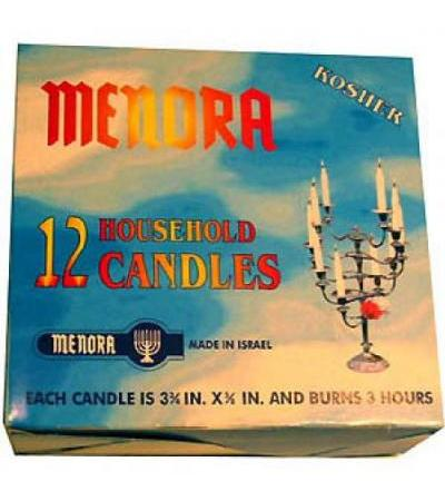 Menora Shabbos Candles 12 Pack