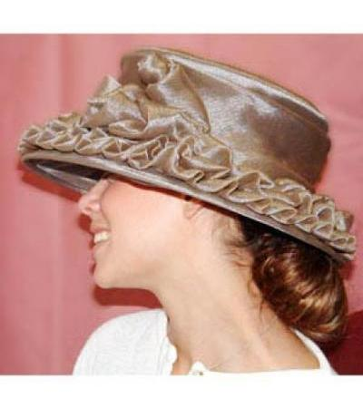 Ripple Organza Hat in Taupe