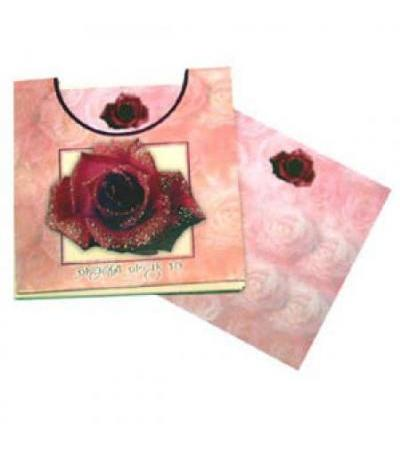 Rose Note Card Set- Square