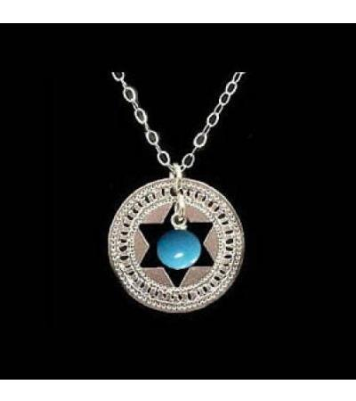 Turquoise in Silver Star Necklace